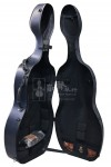 B&C Cello Case 大提琴盒 Carbon Fiber Alfred Glitter Blue