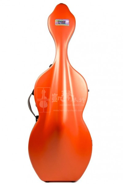 bam Cello Case 大提琴盒 Shamrock Hightech with Wheels Orangey