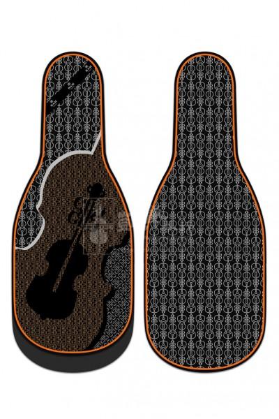 bam Violin Bag 小提琴袋 Silk Padded Violin-Print