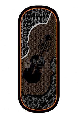 bam Violin Cover Blanket 小提琴布 Silk Violin-Print