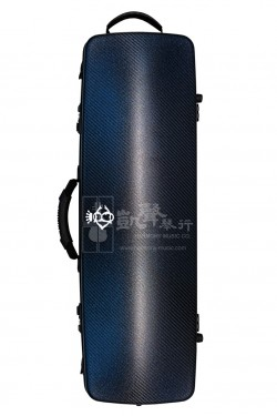 B&C Violin Case 小提琴盒 Carbon Fiber Nicole Oblong Glitter Blue