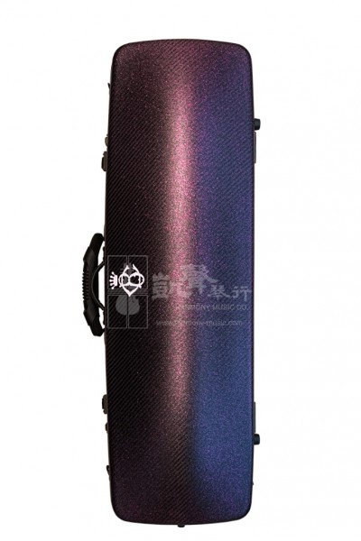 B&C Violin Case 小提琴盒 Carbon Fiber Nicole Oblong Glitter Purple
