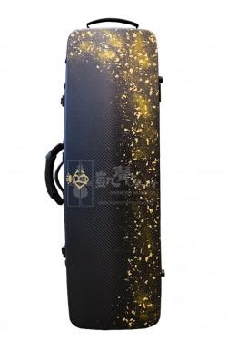 B&C Violin Case 小提琴盒 Carbon Fiber Nicole Oblong Gold-Flake Black