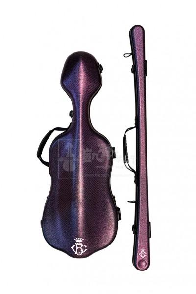 B&C Violin Case + Violin Bow Case 小提琴盒+小提琴弓盒 Carbon Fiber Alexander Plus Glitter Purple