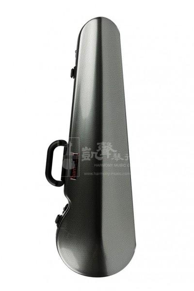 bam Violin Case 小提琴盒 Hightech Contoured Silver Carbon Look