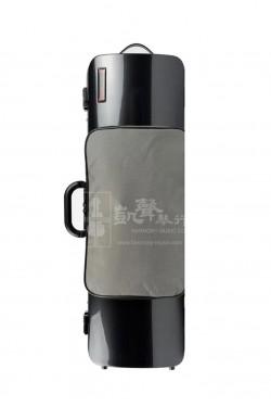 bam Violin Case 小提琴盒 Hightech Oblong with Pocket Black Carbon Look