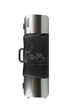 bam Violin Case 小提琴盒 Hightech Oblong with Pocket Silver Carbon Look