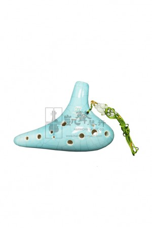 Fengya Ocarina 陶笛 Alto 12 Hole C key (Celadon Crack Pattern)