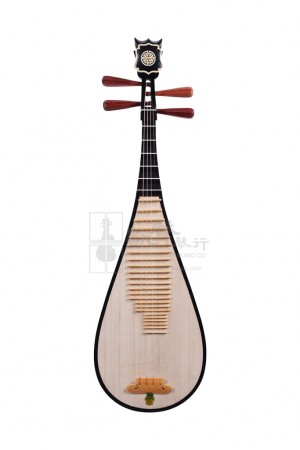 Shanghai Dunhuang Whitewood Pipa with Rosewood Pegs