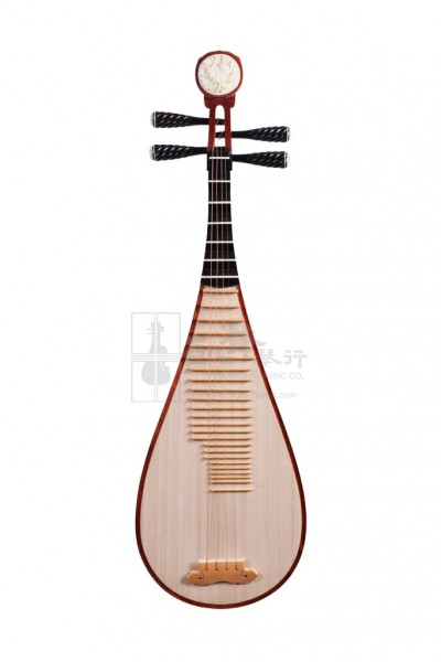 Suzhou Pipa 琵琶 Fragrant Rosewood with Buffalo Horn Pegs by Zhu Chongshan